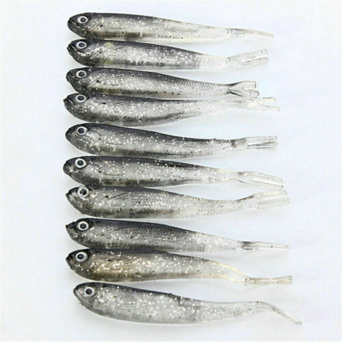 10Pcs Soft Silicone Fishing Lures Bass CrankBait Crank Bait Tackle 7.5cm//2.4g S8