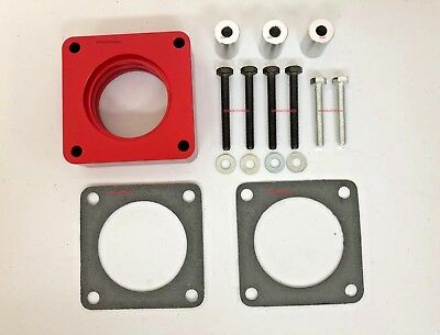 Red Throttle Body Spacer Fit Jeep Cherokee XJ Wrangler TJ YJ Grand Cherokee WJ