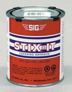 STIX-IT COVERING ADHESIVE     16 ounces