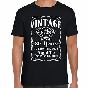 Image Is Loading Grabmybits Vintage 80th Birthday T Shirt Funny Gift