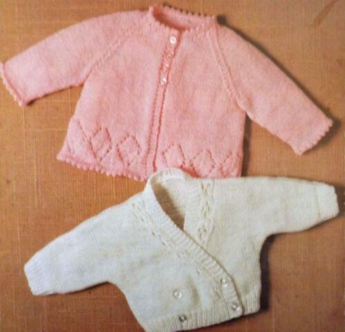 "Baby knitting pattern vintage matinee manteau et cardigan dk enfant 16-20/"" R1682"