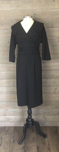 Trashy Diva Mansfield Dress Black Size 14