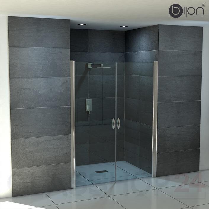 Design Duschabtrennung mit Lotuseffekt   Duschtür Nischentür Dusche Glastür Glas