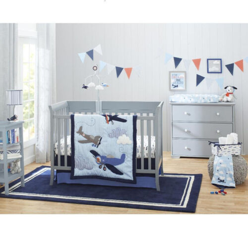 Carter/'s Take Flight Airplane//Cloud Super Soft Appliqued Baby Blanket only