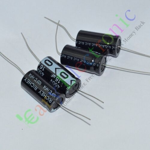 10pc 450V 16uf 105C New long leads Axial Electrolytic film Capacitors audio amps