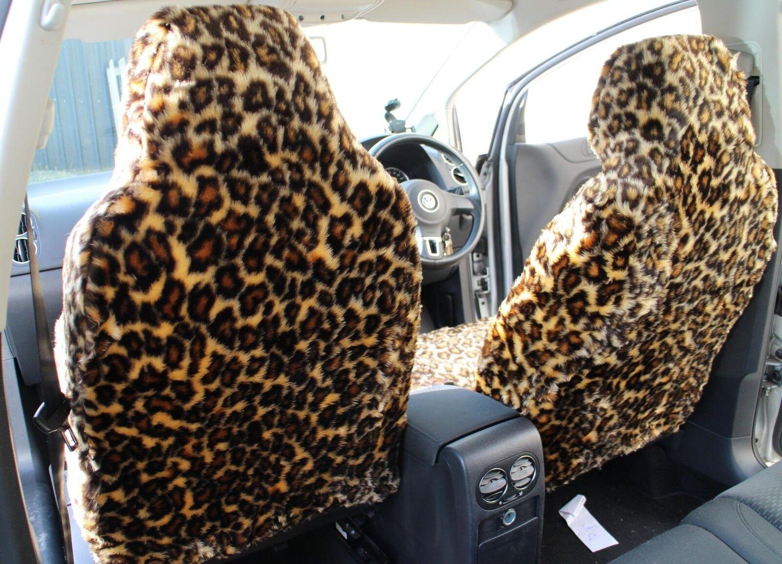 Proton Savvy-Leopardo Piel Sintética Peludo cubiertas de asiento de coche-Conjunto coche-Conjunto coche-Conjunto Completo 5228cd