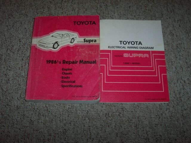 1986 Toyota Supra Shop Service Repair Manual  U0026 Electrical