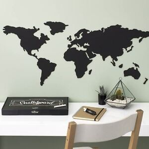 Chalkboard world map by luckies kitchen kids memo blackboard wall caricamento dellimmagine in corso lavagna mappa del mondo da luckies cucina ragazzo gumiabroncs Gallery