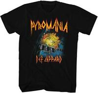 Pyromania Def Leppard English Rock Band Heavy Metal Hard Rock Adult T-shirt