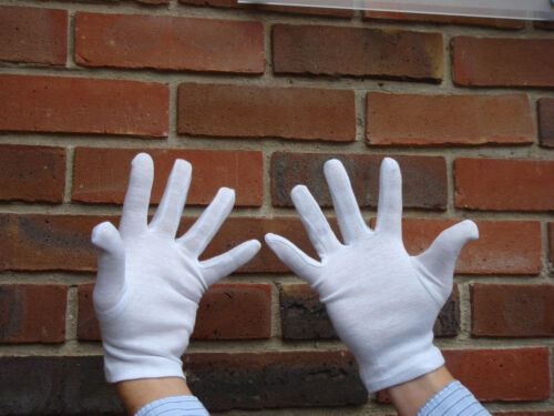 Details about  /White Cotton Gloves for Digital Vinyl Sign Fitting or Magician Clown