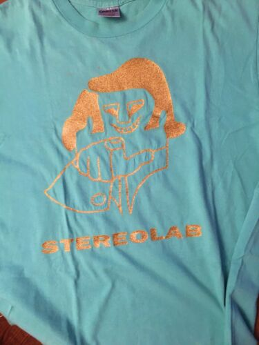 Vintage 1994 Stereolab T-Shirt Men's Size XL Sea F