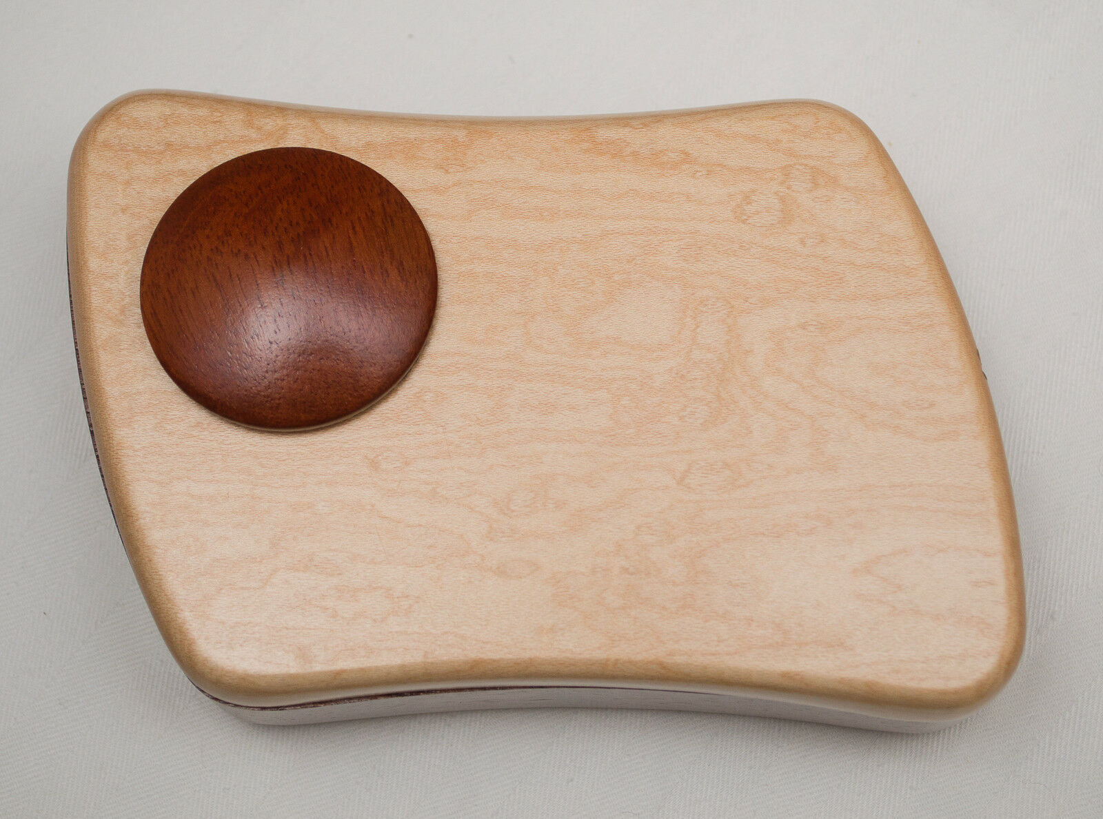 Made-in-the-USA Bubinga and Tiger Maple Navigator Puzzle Box by Heartwood
