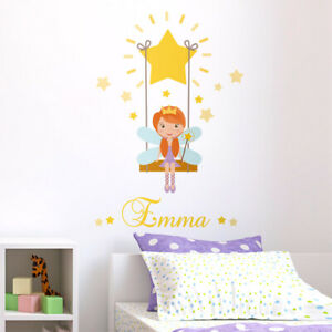 Fairy-Stars-Wall-Decal-Sticker-Princess-Fairy-Wall-Decal-Stars-Girls-Room-Decor