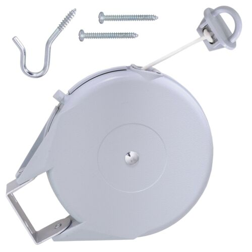 Heavy Duty Line Won/'t Stretch Retractable Clothesline for Indoor//Outdoor Use