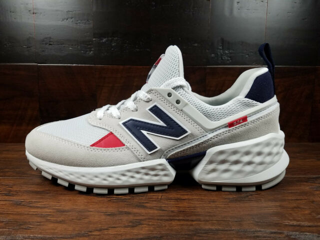 newest collection 0b3a6 2e85f New Balance MS574GNC (Nimbus Cloud / Navy / Red) Suede 574 Sport Mens 7.5-13