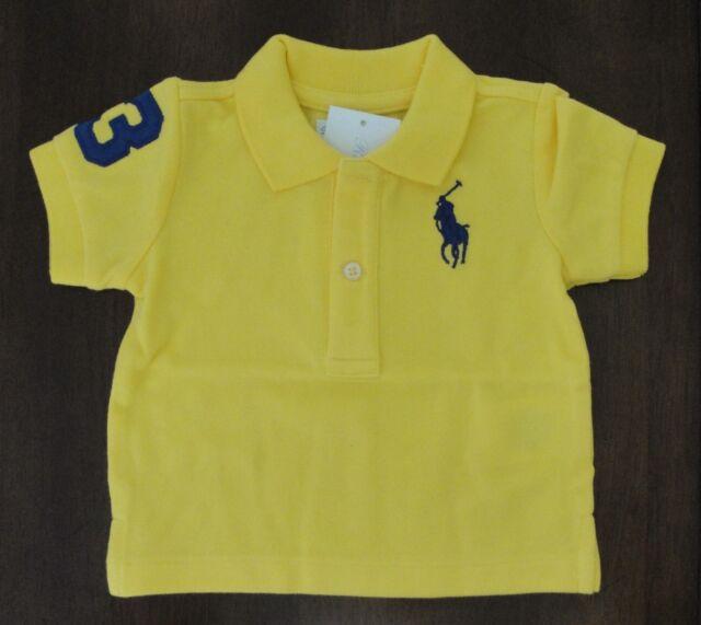 099461cf Ralph Lauren Big Pony Cotton Mesh Tournament Yellow Polo Shirt - Baby Boy 3  Months