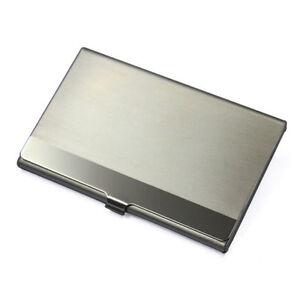 Aluminium Visitenkartenetui Visitenkartenhalter Etui Dose Metall silber neu