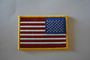 AUFNÄHER PATCH AUFBÜGLER FAHNE FLAGGE USA VEREINIGTE STAATEN AMERIKA rechts Nr.2
