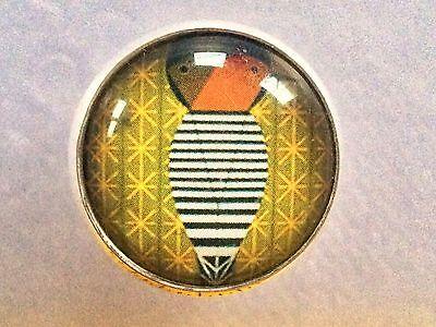 "Charley Harper Woodpecker Bird Sewing Button 1"" Mid Century Modern Charles HA32"