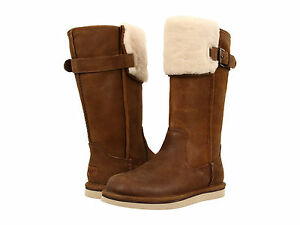 NEW WOMEN UGG AUSTRALIA WILOWE CHESTNUT LEATHER TALL BOOT - Free custom invoice template official ugg outlet online store
