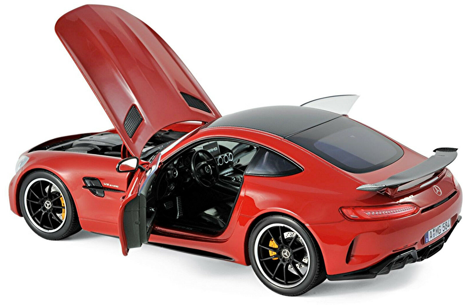 Mercedes-AMG GT R c190 Coupe 2018 Rouge rouge 1 18 Norev