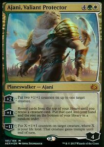 Ajani-Valiant-Protector-FOIL-NM-Aether-Revolt-Magic-MTG