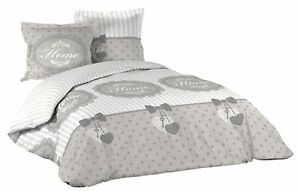 3tlg Landhaus Bettwäsche 240x220 Baumwolle Bettdecke übergröße