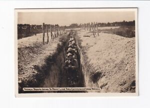 Foto-1-Weltkrieg-French-Troops-Going-To-Front-Line-Thru-Communications-Trench