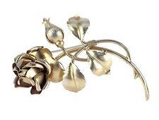 "Art Deco Damen 900 Silber große Rose Brosche Nadel FWG ""Original Ges.Gesch."""
