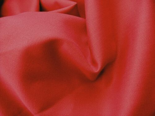 RED Canvas Fabric Material Medium Weight 100/% Cotton 150cm Wide sold metre