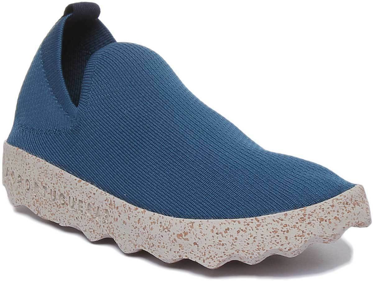 Asportuguesas Clare Eco damen Cork Sole Cotton schuhe In Blau Größe UK 3 - 8