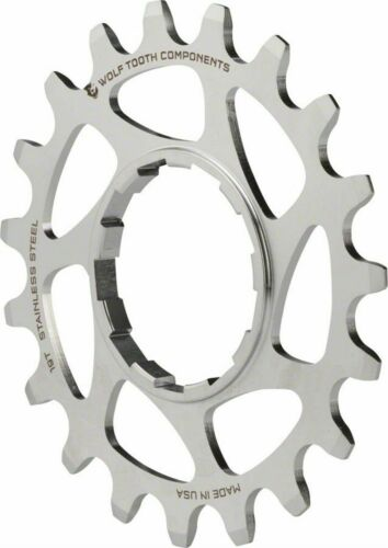 Wolf Tooth Components Single Speed Stainless Steel Bike Cog 19T Compatible with