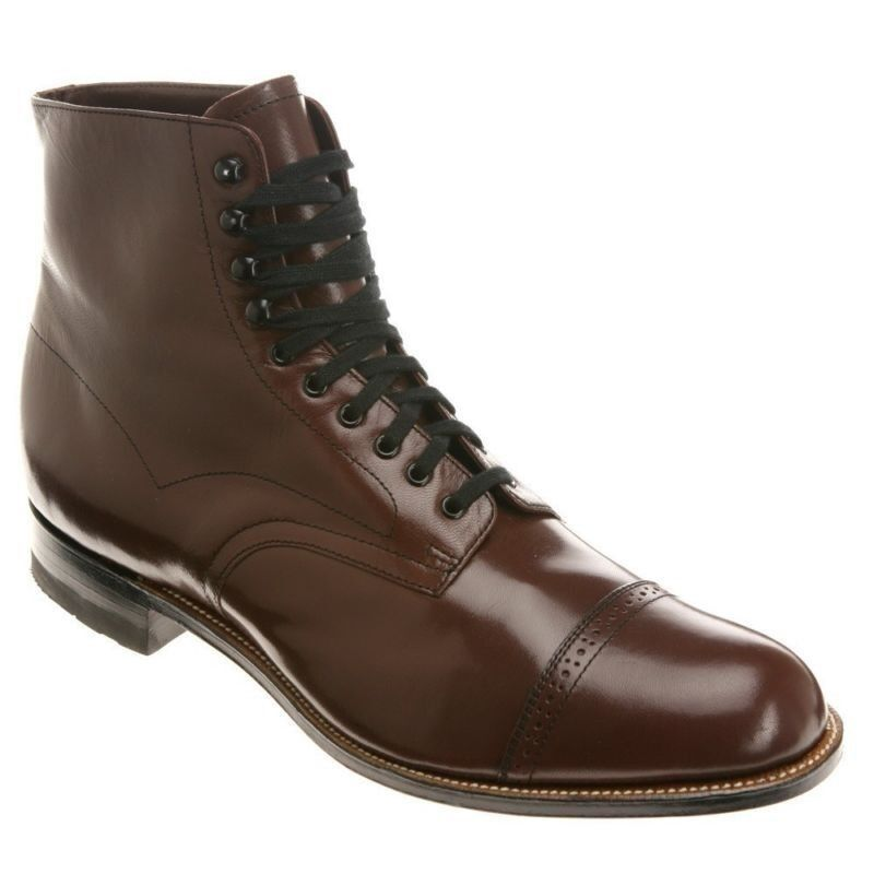 Stacy Adams Mens Madison Brown Leather Dress Trending Ankle Medium Wide Boot