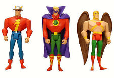 DC Universe_Justice League Unlimited_The FLASH_GREEN LANTERN_HAWKMAN figures_MIP