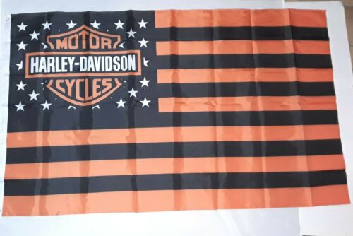 1,50 M x 0,9 M 2 occhielli-hissfahne Bandiera//decorazione per Harley Davidson ® tifosi