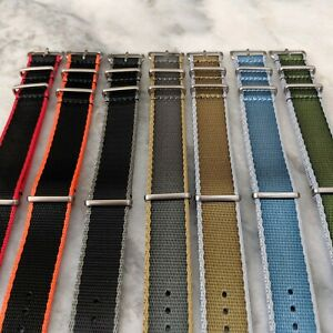 Premium-Contrast-Colour-Edged-Seatbelt-NATO-Watch-Strap-20mm-22mm