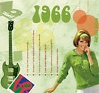 47th Anniversary or Birthday Music CD Gift and Greeting Card - 1966
