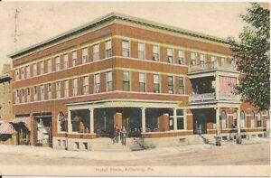 Image Is Loading Hotel Steim Kittanning Pa Postcard 1908