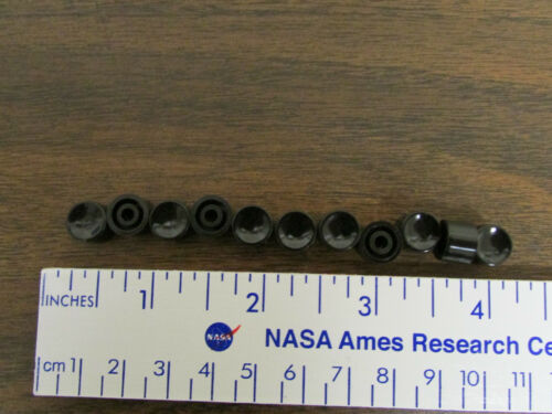11 Pieces Black Press-On Knob For Pushbutton Switch NOS