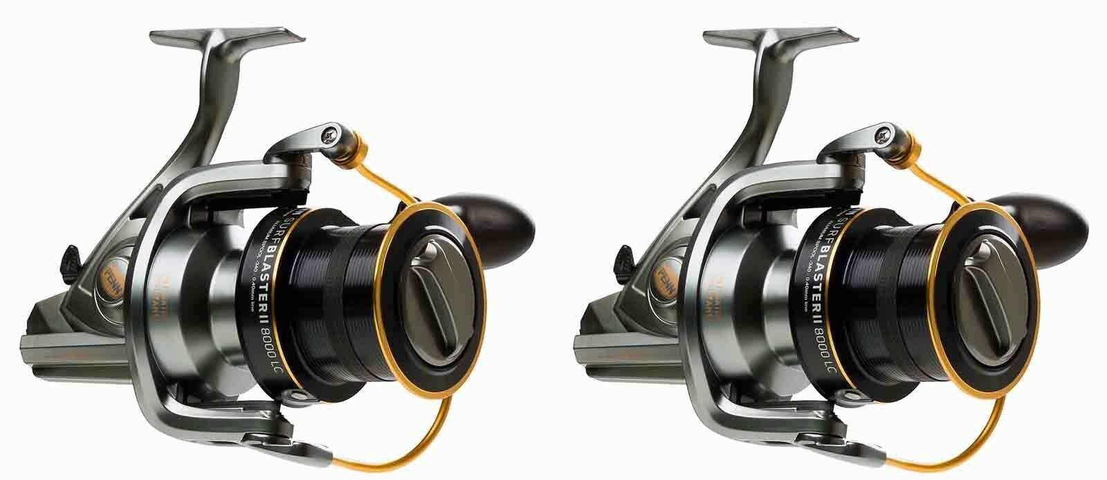 New 2 X Penn Surfblaster 8000 LC Sea Spin Fishing Fixed Spool Reel - 2 X Reels