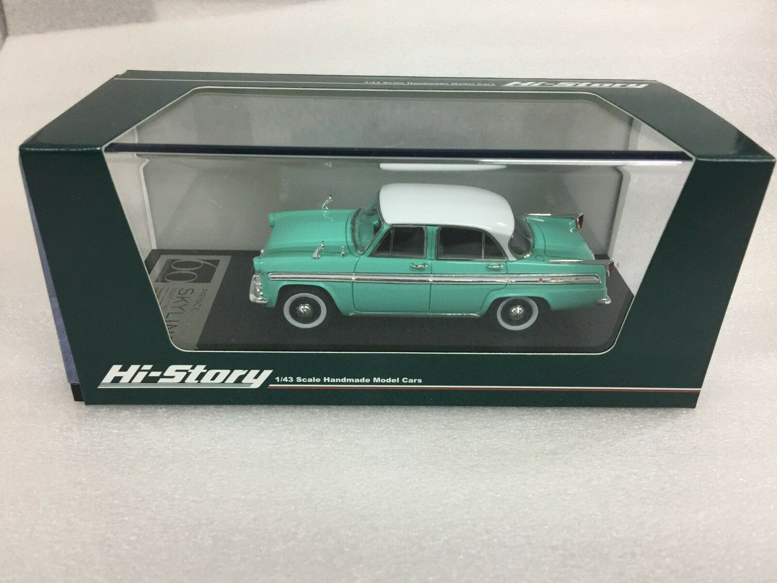 1 43 HI STORY HS184GR NISSAN 1957 PRINCE SKYLINE DELUXE DELUXE DELUXE GREEN model car e16608
