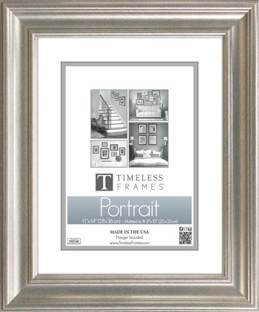 Timeless Frames 45241 Lauren Portrait Silver Wall Frame 11 X 14 In ...