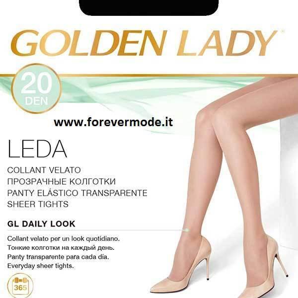 20 Strumpfhose Frau Golden Lady Leda 20 Höhle Übersichtlich Mit Naht Komfort Art