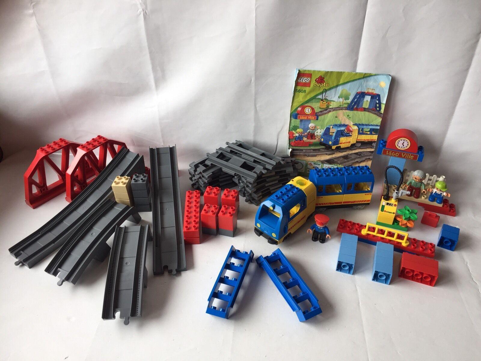 Lego Duplo Ville ferroviaire-Starter Set 5608-E-Lok, gare  3774 pont TOP