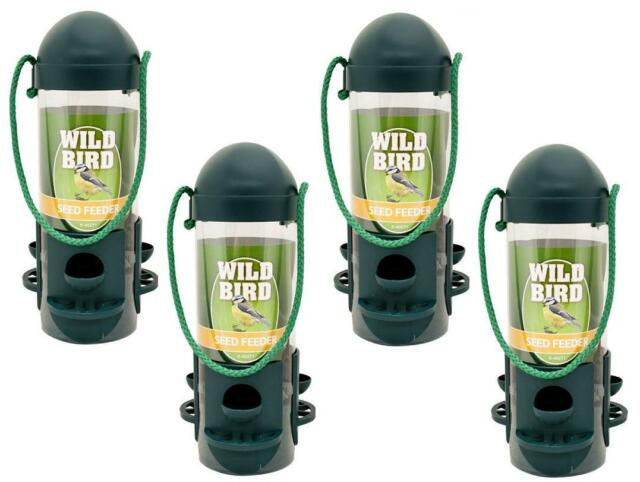 4 x Hanging Wild Bird Seed Feeder Hanger Perch Squirrel  Peanut Garden Feeding