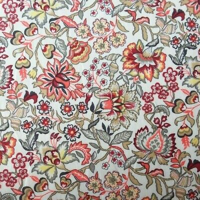 Dressmaking Turquoise Floral Print on Cotton Lawn Fabric 140cm wide Quilting