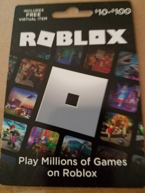 Roblox $10 gift card, includes free virtual item, activated and ready.