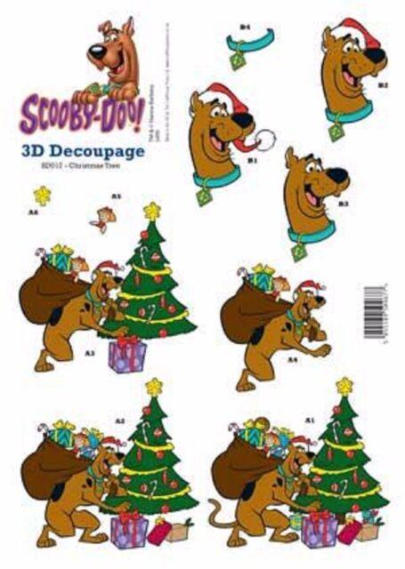 Scooby Doo Christmas.Scooby Doo Christmas Tree Decoupage Sheet
