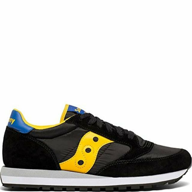 the latest 31a2b 260e4 Saucony Originals Men's Jazz Original Sneaker, Black/Yellow/Blue