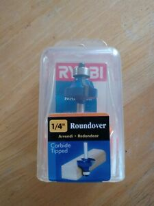 "NEW  1//4/"" R Roundover Carbide Tipped Router Bit 1//2 Shank Bearing Guide zd 1"